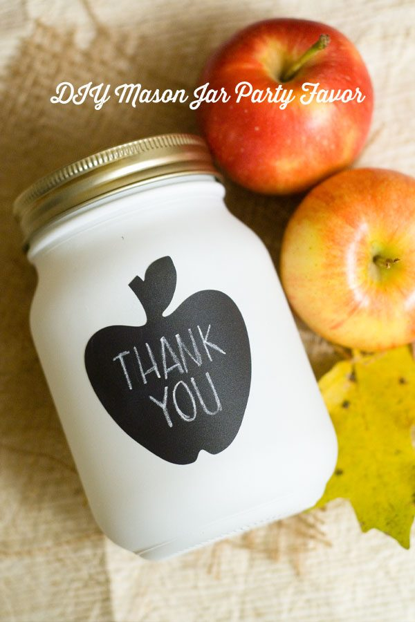 mason jar apple party favor