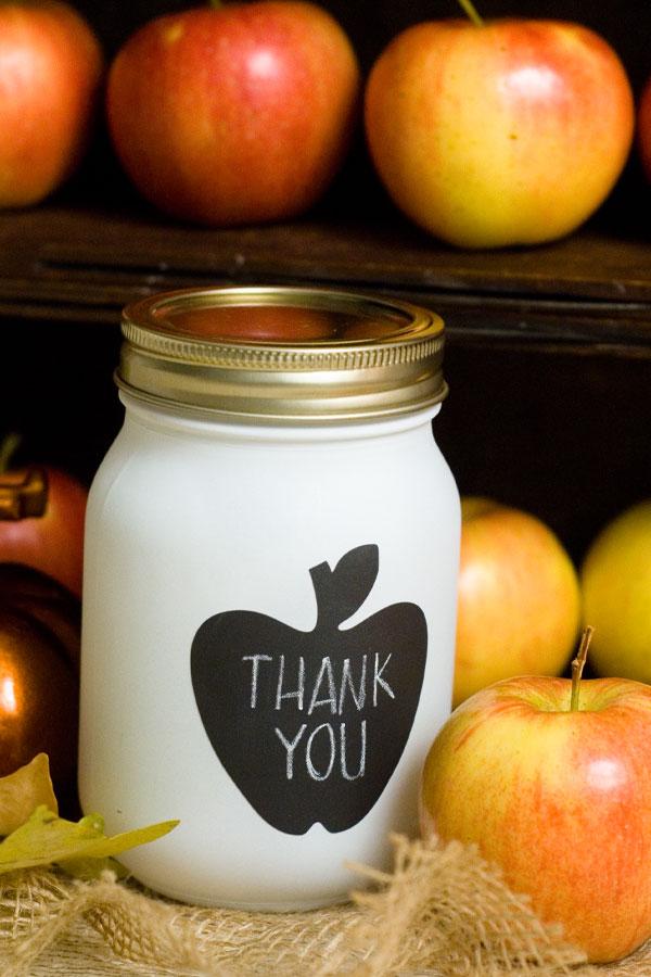 apple social mason jar favor