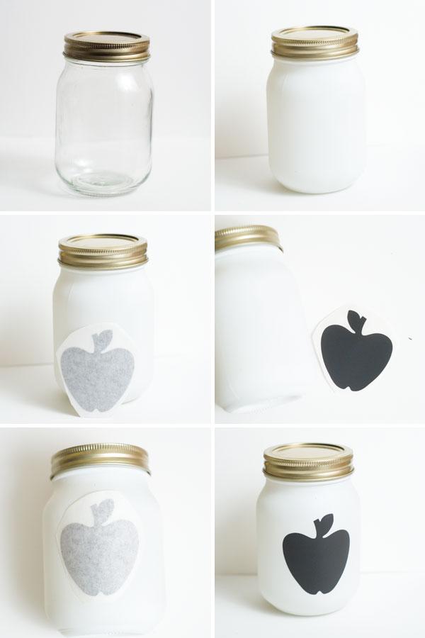 mason jar favor steps
