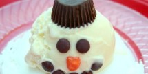 melting snowman sundae