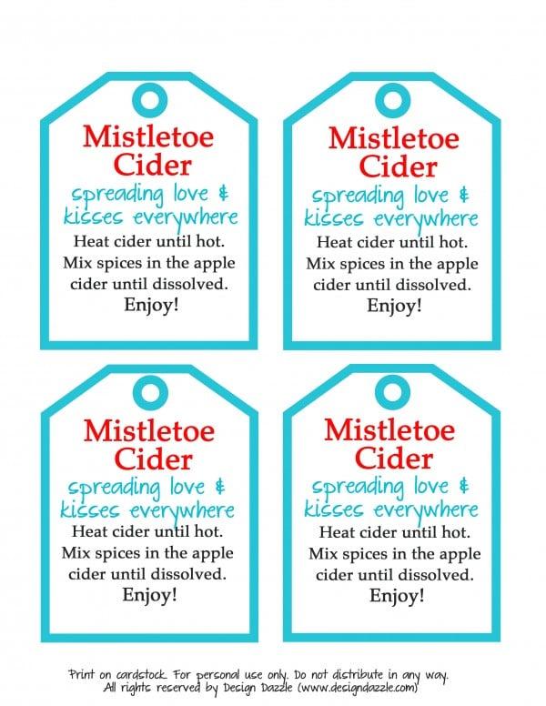 mistletoe cider aqua tags
