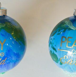 Peace on Earth DIY Ornaments