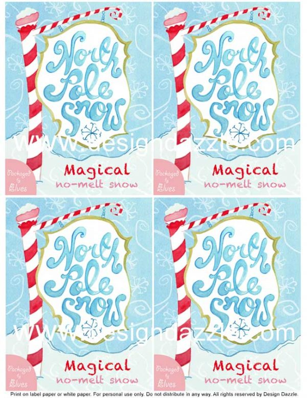 ... to purchase the Magical No-Melt Snow & Dehydrated Snowflakes Labels