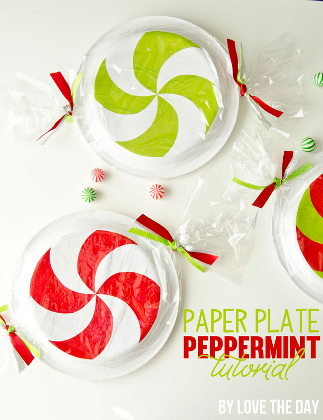 Paper Plate Peppermint Tutorial & Download by Love The Day