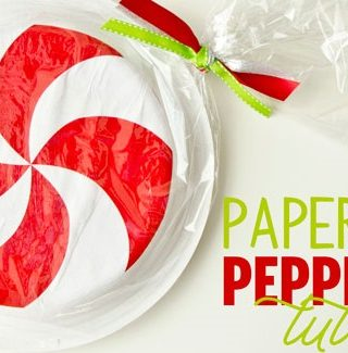 Paper Plate Peppermint Tutorial