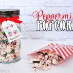 Peppermint Popcorn Neighbor Gift Idea