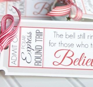Polar Express Bell Favors & Printable Tags