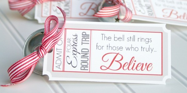 Polar Express Bell Favors & Printable Tags - Design Dazzle