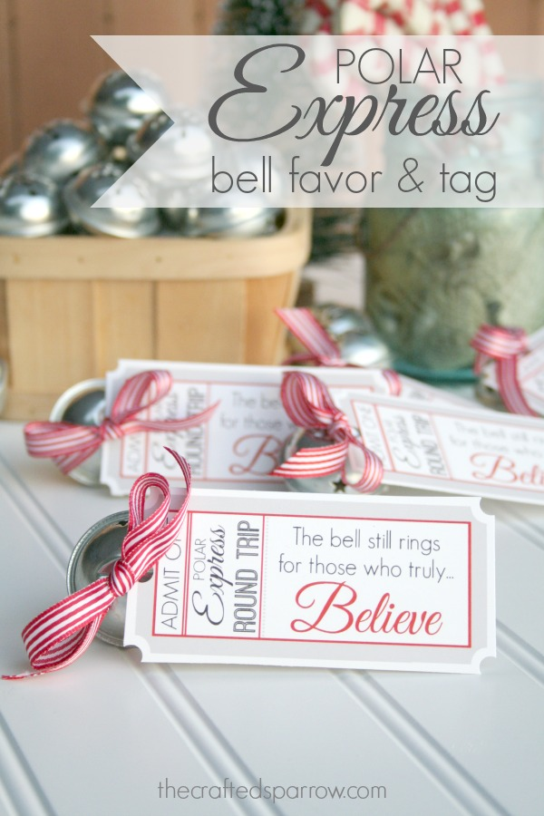 Polar Express Party Ideas For Christmas Part - 39: Polar Express Bell Favor Tag