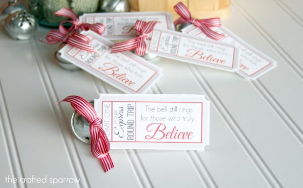 Polar Express Bell Favors Amp Printable Tags Design Dazzle