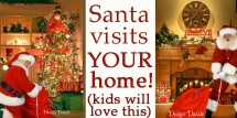 Santa visits your home! Kids will love this! Design Dazzle