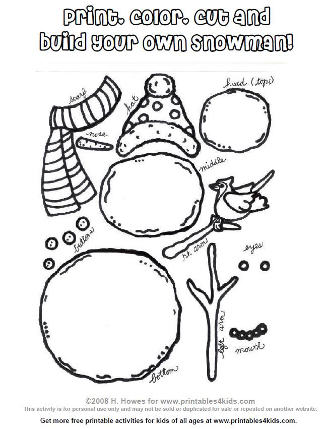 build your own snowman printable design dazzle. Black Bedroom Furniture Sets. Home Design Ideas