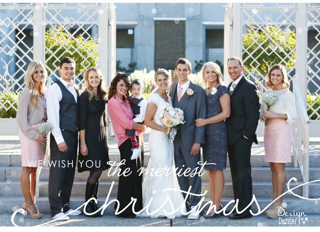 Design Dazzle Family Christmas Card