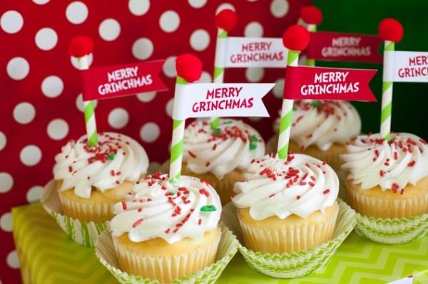 Merry Grinchmas Cupcakes