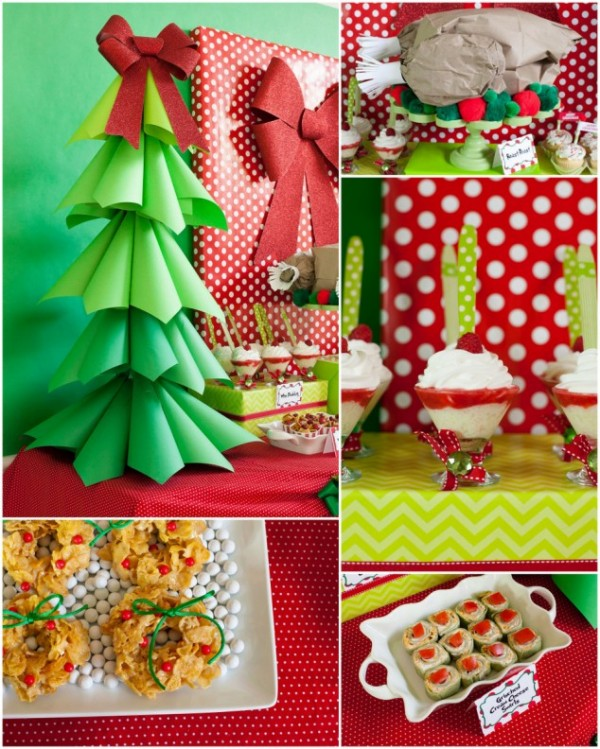 All the Whos down in Whoville would heartily approve of this Grinchmas Party decorated with paper!