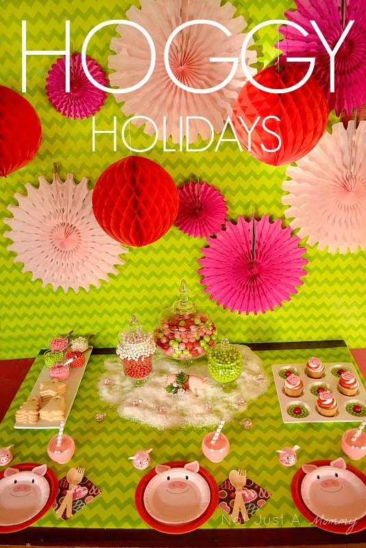 Hoggy Holidays Christmas Party Table