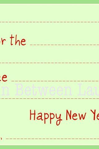 Kids Christmas Thank You Note Printables