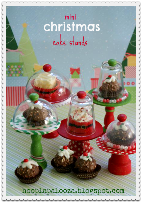 Mini Chrismas Cake Stands shared on Christmas Wonderful Link Party