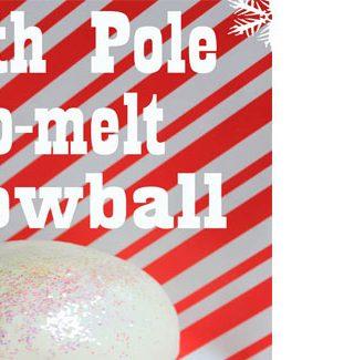 North Pole Snow: Recipe & Printable