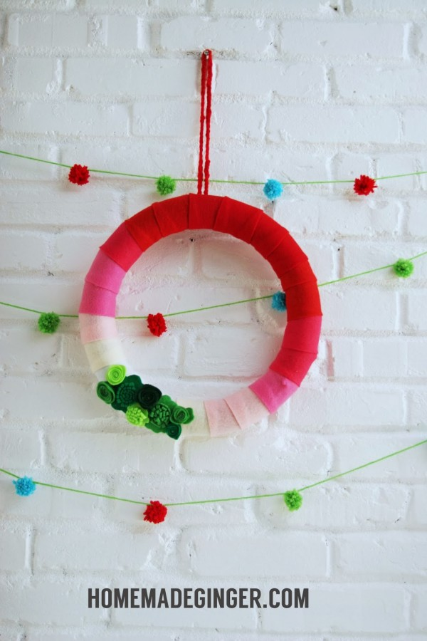 ombre christmas wreath
