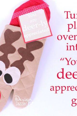 Reindeer Oven Mitt Neighbor Gift Idea