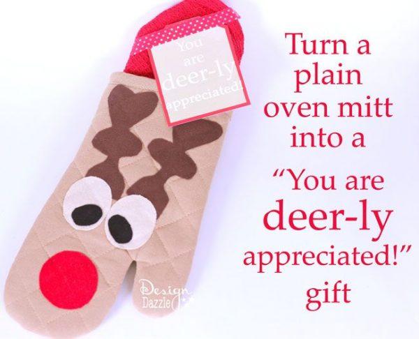 Reindeer oven mit neighbor gift idea