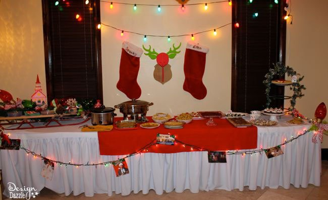 Christmas Vacation Party - Griswold Style food table party decor! Design Dazzle
