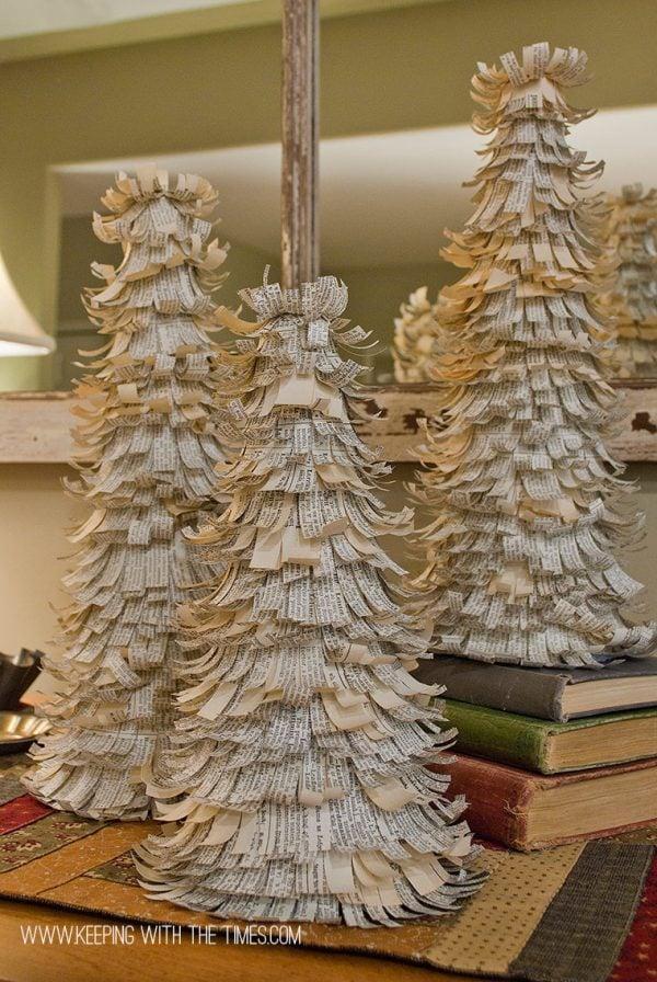 vintage paper christmas tree