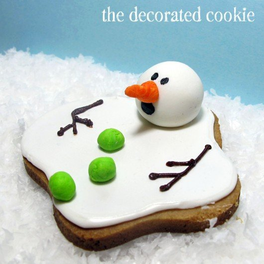 melting snowman cookies to make with kids