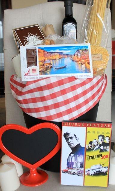 Valentine Hubby Gift Basket - Design Dazzle