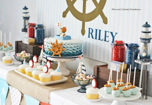 Nautical Birthday Party For Your Little Sailor Such A Sweet And Gorgeous Dessert Table