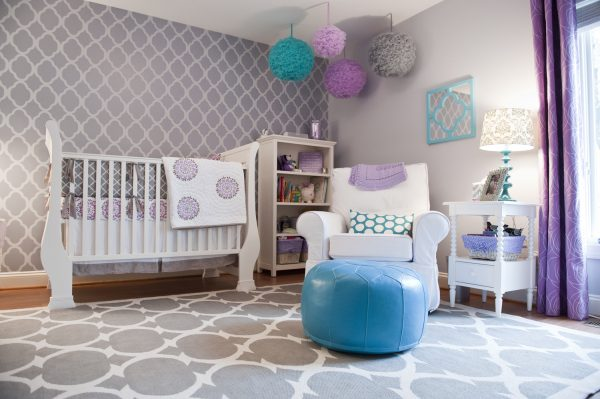 Fabulous Girl Nursery Ideas for a sweet baby... without a hint of pink!
