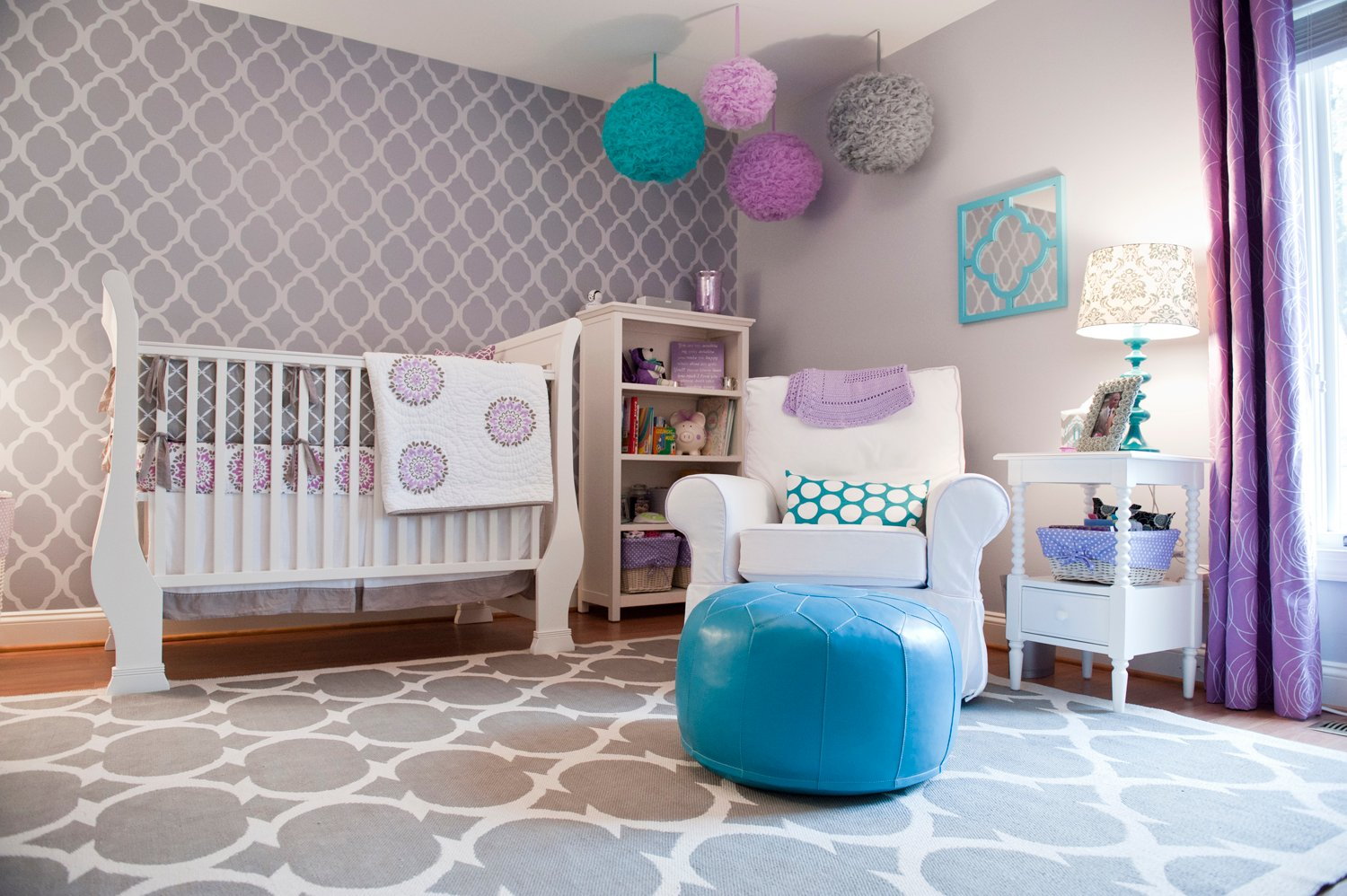 Fabulous girl nursery ideas without a hint of pink - Chambre bleu turquoise et taupe ...