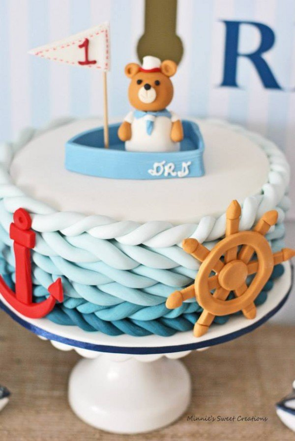 Nautical 1st Birthday Design Dazzle