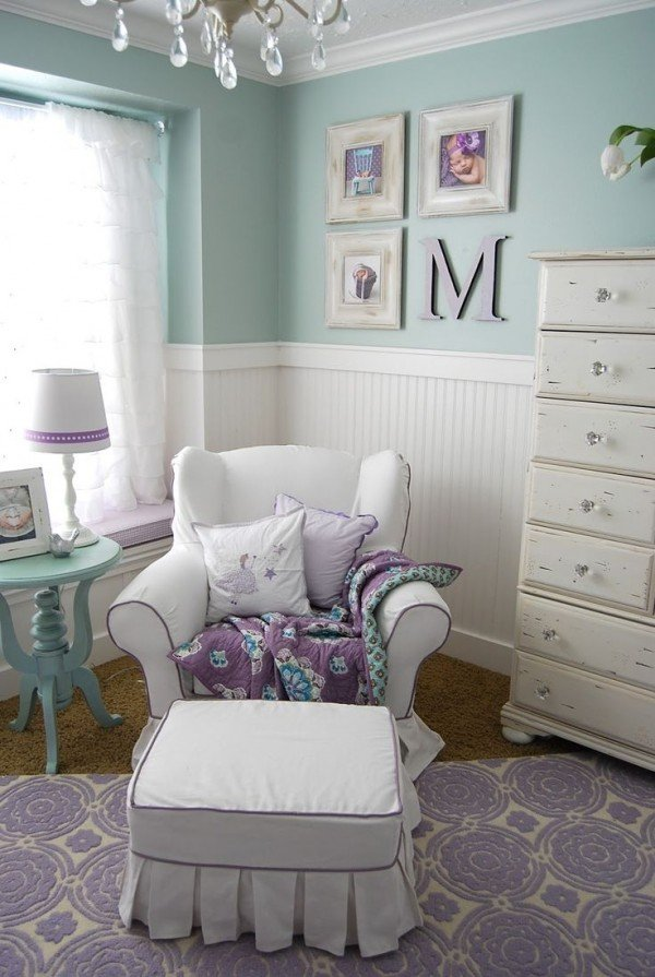 Fabulous girl nursery ideas without a hint of pink for Lavender room color