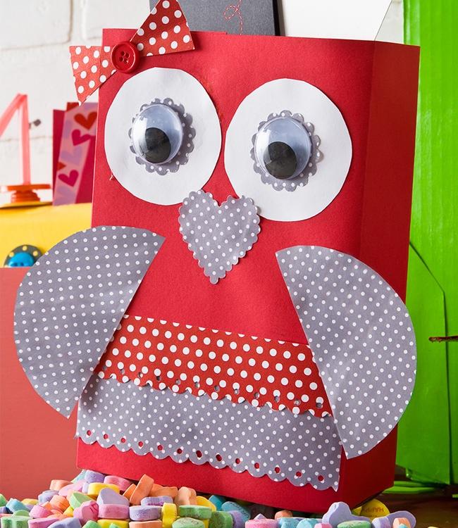 Owl Valentine Classrom Cardbox