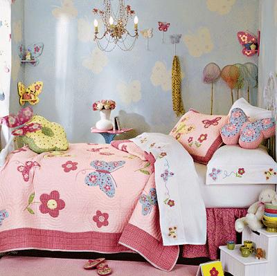 Garden inspired girls rooms for Butterfly themed bedroom ideas