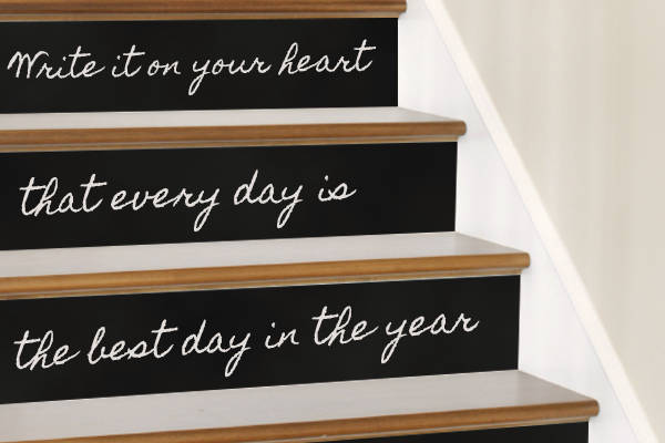 Chalkboard Stairs
