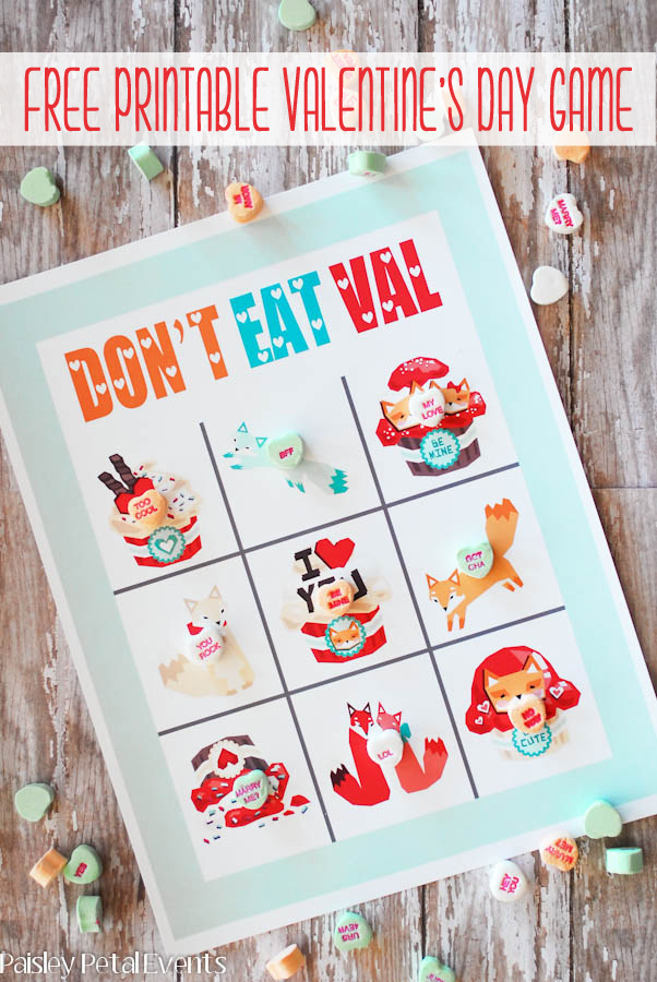 Don't eat Pete for Valentine's - free printable.