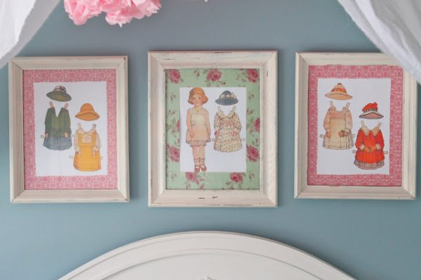 paperdoll framed art