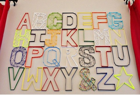 Alphabet Yarn Wall Art