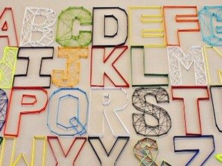 Grab Your Hammer for Alphabet Wall Art!