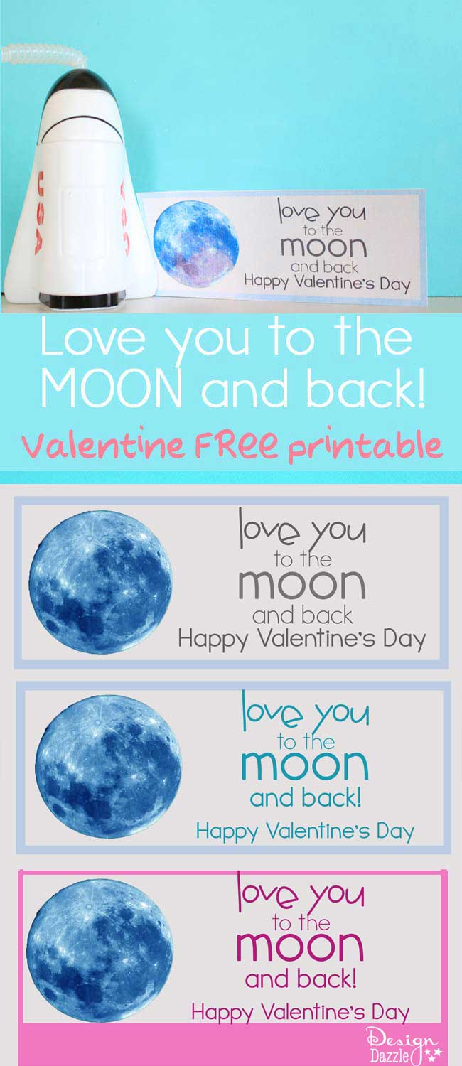 Love you to the MOON and BACK Free Valentine Printable!