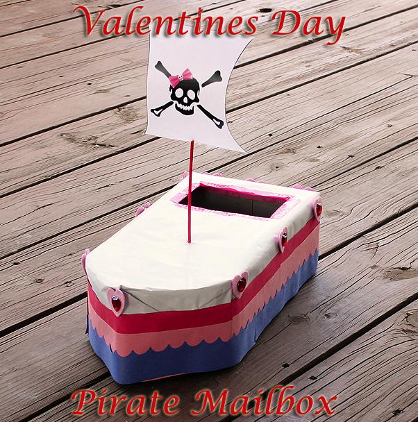Girls Pirate Valentine Box