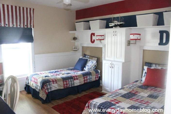 pottery barn inspired boys room on a budget design dazzle. Black Bedroom Furniture Sets. Home Design Ideas