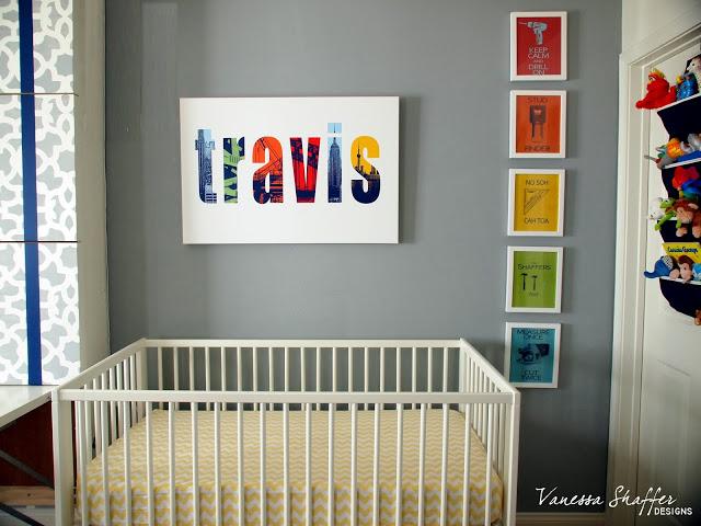 crib and sign