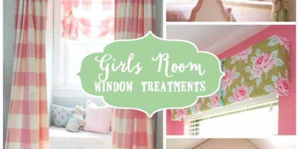 Girls window treatments