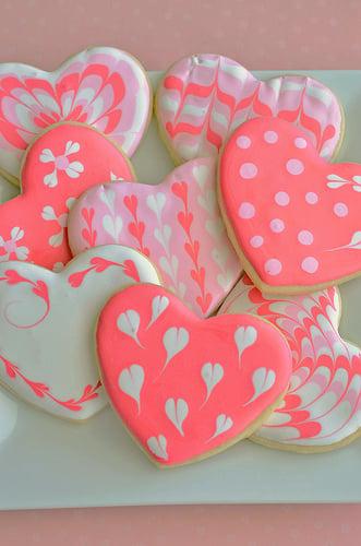 Heart Shaped Royal Icing Sugar Cookies