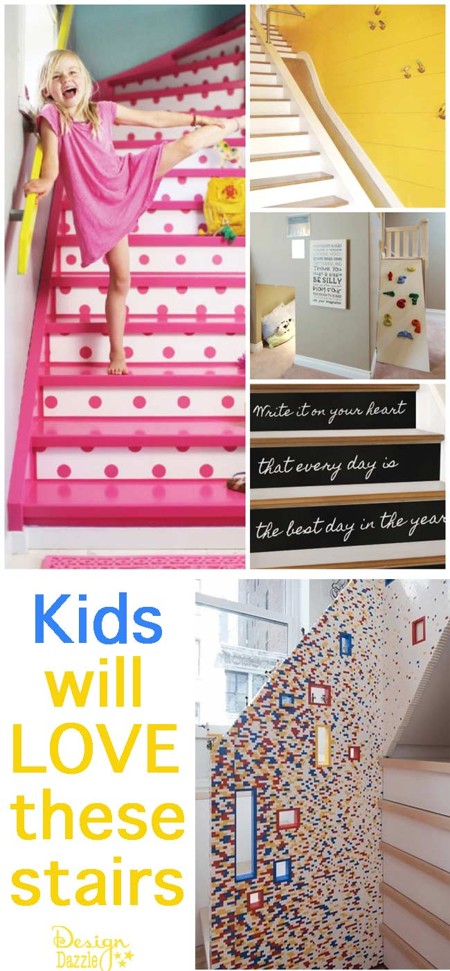 kids will love these stairs design dazzle. Black Bedroom Furniture Sets. Home Design Ideas