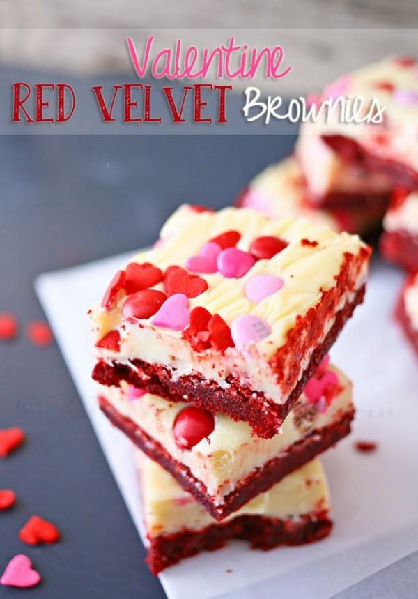 Red Velvet Valentine's Day Brownies